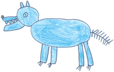 Ecole maternelle de la fontaine septembre 2008 - Dessiner un loup facilement maternelle ...